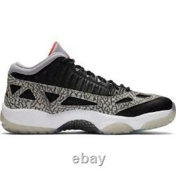 Nike Air Jordan 11 Retro Low IE Black Cement Red Gym Shoes 919712-006 Size 12