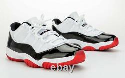 Nike Air Jordan 11 Retro XI Low Concord Bred Black/red Av2187-160 Size 4-15