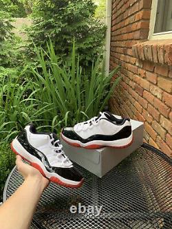 Nike Air Jordan 11 XI Retro Low Concord-Bred Black/Red-White size 9 AV2187-160