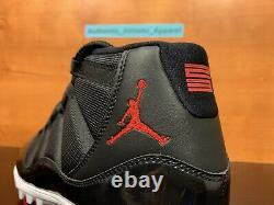 Nike Air Jordan 11 XI Retro TD Sz 11.5 Football Cleat Bred Black Red AO1561-010