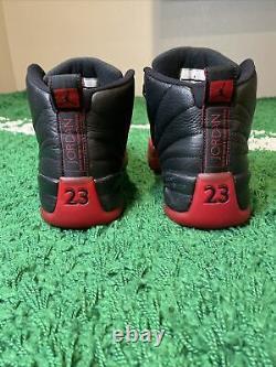 Nike Air Jordan 12 Flu Game Bred 2016 XII Retro Black Red OG 130690-002 Size 9.5