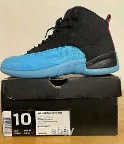 Nike Air Jordan 12 Retro Gamma Blue Black Red 11 2013 Mens Size 10 130690-027