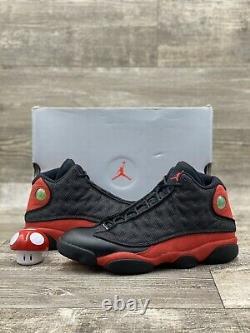 Nike Air Jordan 13 XIII Retro Bred 414571-004 Black Red White Reflective Sz 11