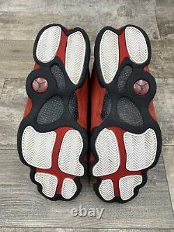Nike Air Jordan 13 XIII Retro Bred 414571-004 Black Red White Silver Sz 12 2017