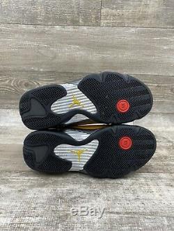 Nike Air Jordan 14 XIV Retro BQ3685-706 Sz 9 REVERSE FERRARI YELLOW BLACK RED