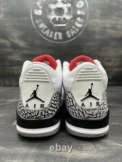 Nike Air Jordan 3 Retro White Cement 2011 Size 8.5 136064-105 White Black Red OG