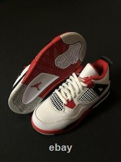 Nike Air Jordan 4 PS Retro Fire Red White Black BQ7669-160 Size 2Y