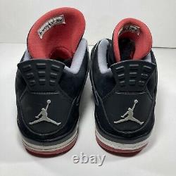 Nike Air Jordan 4 Retro Bred 2012 Black/Red 308497-089 Size 12