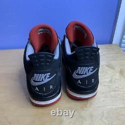 Nike Air Jordan 4 Retro OG Bred 2019 Mens Size 13 Black/Red 308497 060