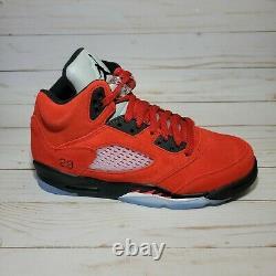 Nike Air Jordan 5 Retro Raging Bull Red Black Toro Bravo Size 4Y-7Y 440888-600
