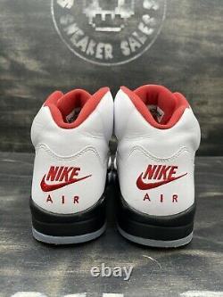 Nike Air Jordan 5 V Retro Fire Red White Black Silver Size 11.5 OG DA1911-102