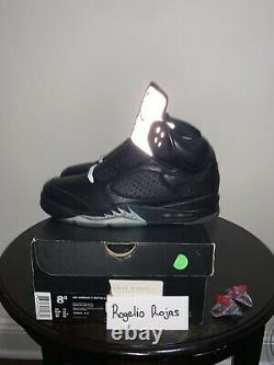 Nike Air Jordan 5 V Retro Premio Bin 23 Black Metallic OG Sz 8 Red 444844-001 OG