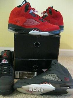 Nike Air Jordan 5 V Retro Shoes DMP Defining Moments Pack Black Red Men 10