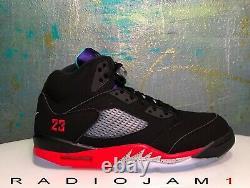 Nike Air Jordan 5 V Retro Top 3 Black Red Grape Mens Size 11.5 New WithReceipt