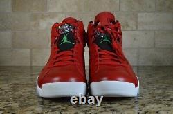 Nike Air Jordan 6 Retro Spizike History of Jordan Red White 694091-625 Size 10