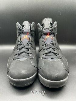 Nike Air Jordan 6 VI BIack Infrared Size 10 384664-023 Black Red Bred 2014