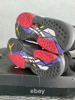 Nike Air Jordan 8 VIII Retro Playoff 2013 Size 9 305381-061 Black White Red OG