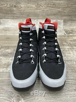 Nike Air Jordan 9 IX Retro Kilroy Silver Black Red Grey Gray 302370-012 Size 9.5