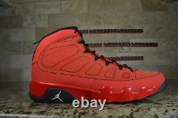 Nike Air Jordan 9 IX Retro Motorboat Jones Black Red White 302370-645 Size 14