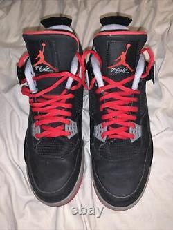 Nike Air Jordan IV 4 Retro Bred Black Red Cement 2012 Size 13 308497-089