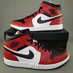 Nike Air Jordan Retro 1 MID Chicago Toe Gym Red Black 554724-069 AJ1 Men & GS