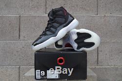 Nike Air Jordan Retro 11 72-10 Black/Gym Red XI Size 9 Dead Stock Authentic