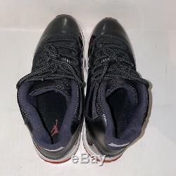 Nike Air Jordan Retro 11 XI Bred Black Red White Playoff 378037-010 Size 11