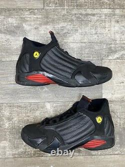 Nike Air Jordan Retro 14 XIV Last Shot Black Red Yellow Size 11.5 OG 1311832-010