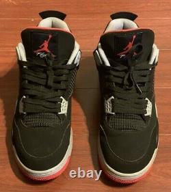 Nike Air Jordan Retro 4 BRED 2019 Black Red (308497-060) SIZE 14 SHIPS ASAP