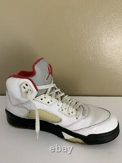 Nike Air Jordan Retro V 5 Fire Red White Black Size 9 136027-100