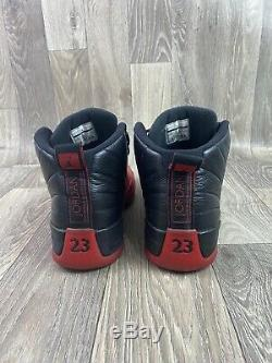 Nike Air Jordan Retro XII 12 Flu Game 2016 Black Red Bred OG Sz 13 130690-002