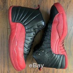 Nike Air Jordan Retro XII 12 Flu Game 2016 Black Red Bred OG Sz 9.5 130690-002