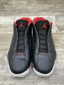 Nike Air Jordan Retro XIII 13 Low Bred Black Red White Playoffs 310810-027 Sz 12