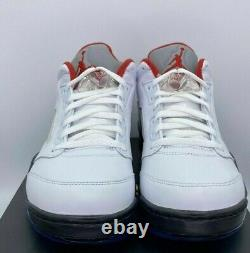 Nike Air Jordan V 5 Low Retro Golf Shoes Men's Fire Red White Cleat Size 10