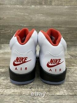 Nike Air Jordan V 5 Retro Fire Red 2020 DA1911-102 Size 11 White Black Red Grey
