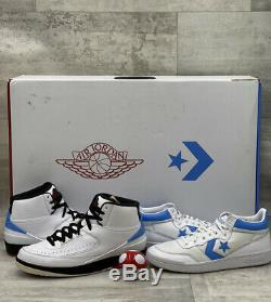 Nike Air Jordan X Converse Pack 10.5 UNC Retro 2 White Black Red Blue 917931-900
