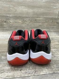 Nike Air Jordan XI 11 Low Bred 2015 Retro 528895-012 Size 13 Black Red White OG
