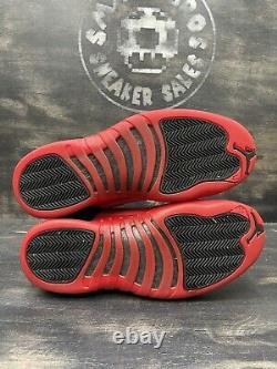 Nike Air Jordan XII 12 Retro Flu Game 2016 Size 11 Black Red White OG 130690-002