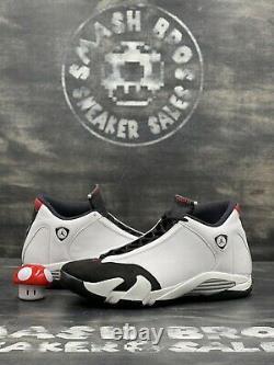 Nike Air Jordan XIV 14 Retro Black Toe 2014 Size 13 414571-102 White Black Red