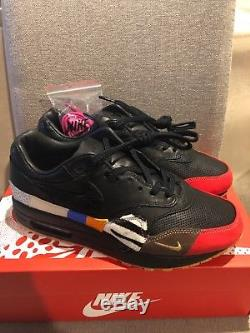 Nike Air Max 1 Master Size 7.5 Black/Red/Multicolor Dead-stock DS 910772-001