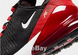 Nike Air Max 270 Black-Red Mens UK Size 7-10 Trainers Exclusive Special Edition