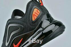 Nike Air Max 720 2020 Trainers Black Red UK 8.5 UNISEX Men Women 270 97 GENUINE