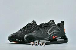 Nike Air Max 720 2020 Trainers Black Red UK 8 UNISEX Men Women 270 97 GENUINE