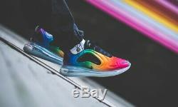 Nike Air Max 720 Pride Rainbow Black Red Shoe Trainer Sneaker UK 6-12