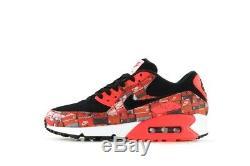 Nike Air Max 90 Atmos Print We Love Nike UK 9 Black Red AQ0926 001 Rare UK9