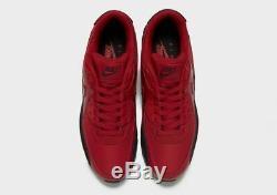 Nike Air Max 90 Essential Black Red Mens Trainers Shoes UK 10.5 EU 45.5 US 11.5