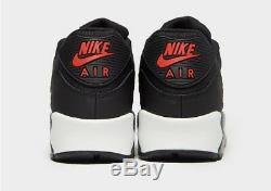 Nike Air Max 90 SE Black Red White Running Shoes Trainers