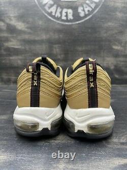 Nike Air Max 97 OG QS Metallic Gold Black White 2017 Red 884421-700 Size 13