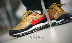 Nike Air Max Bw 97/bw Gold Black Red Uk Size 9 Us 10 Eu 44 Bnib Reflective 3m