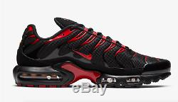 Nike Air Max Plus OG's Black Red Men's Trainers Limited Stock All Sizes